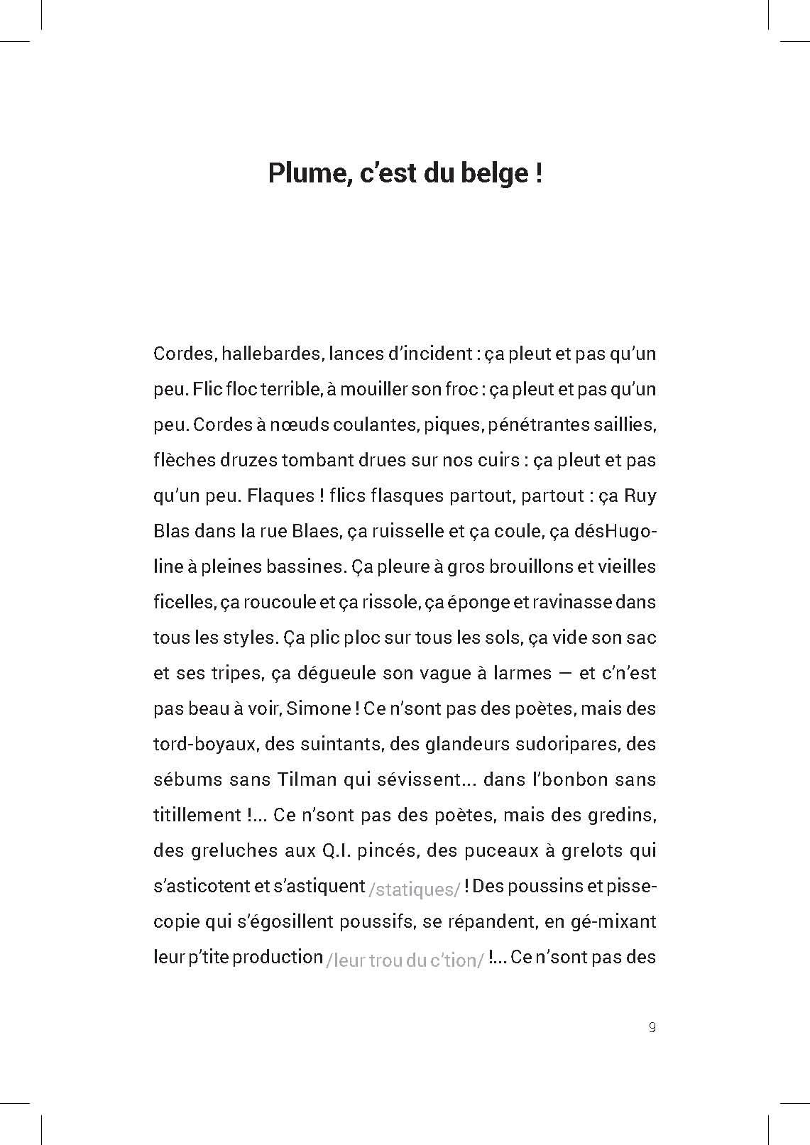 Pauvre Baudelaire - ouverture
