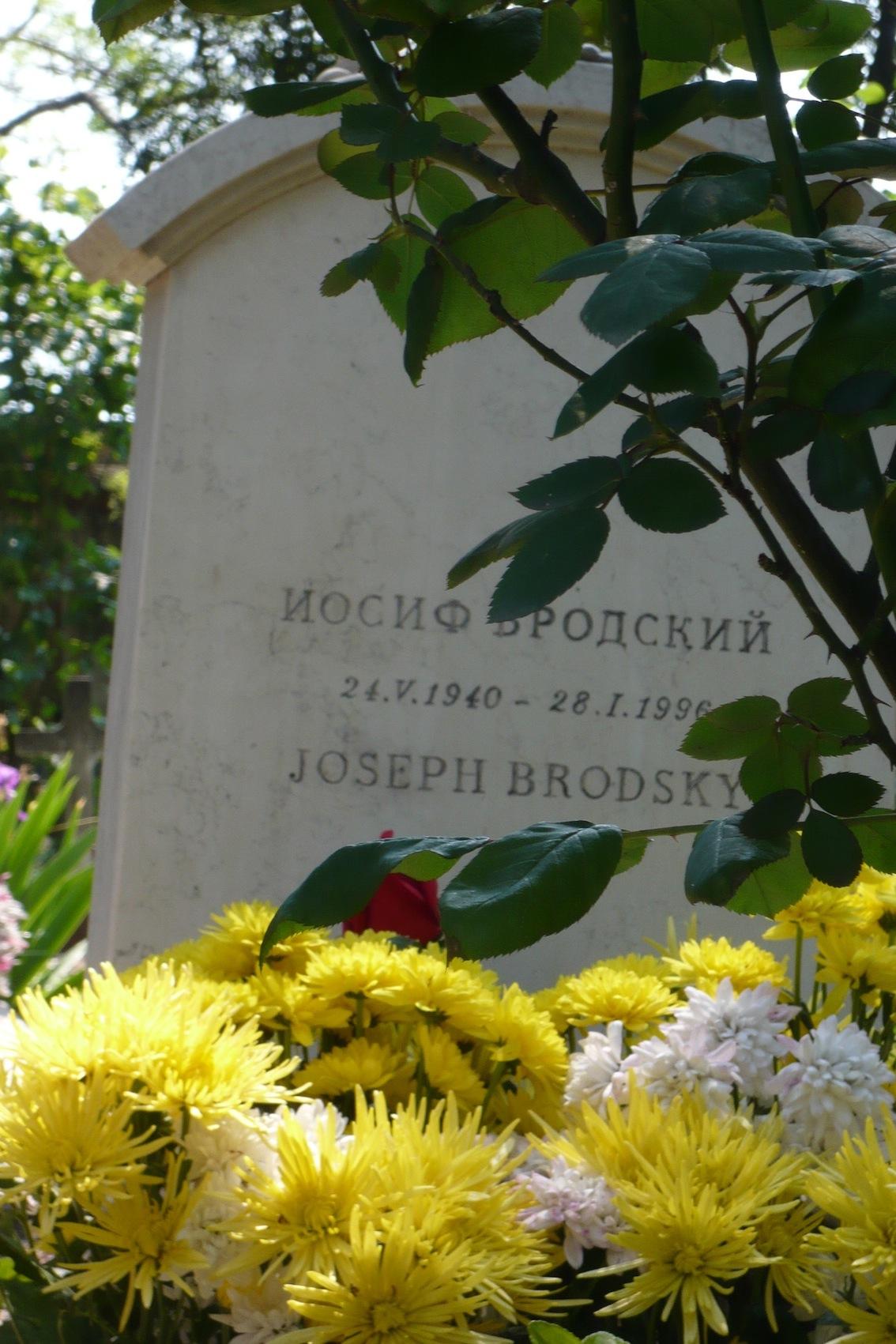 Brodsky's tomb in Venice_April 2009